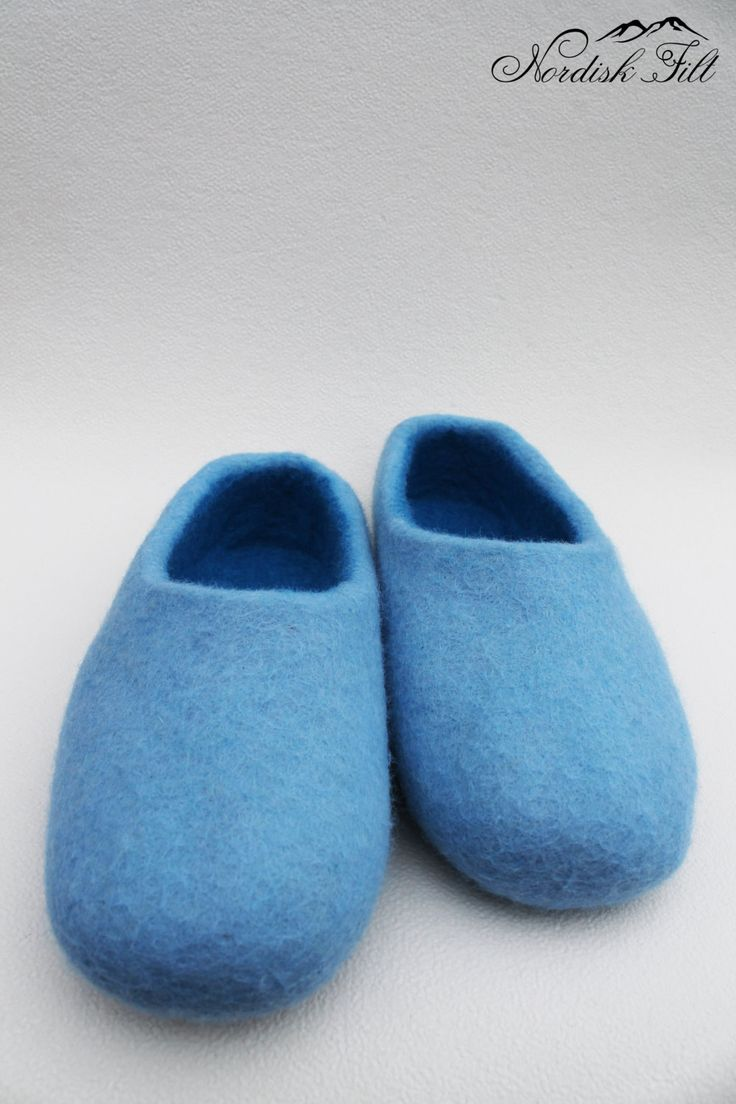 Felted wool slipper-made to order by NordiskFilt on Etsy