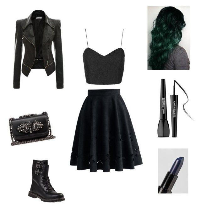 """""""Untitled #30"""" by nat2124 on Polyvore featuring Chicwish, Topshop, Ardency Inn, MAKE UP FOR EVER, Timberland, Christian Louboutin, women's clothing, women's fashion, women and female"""