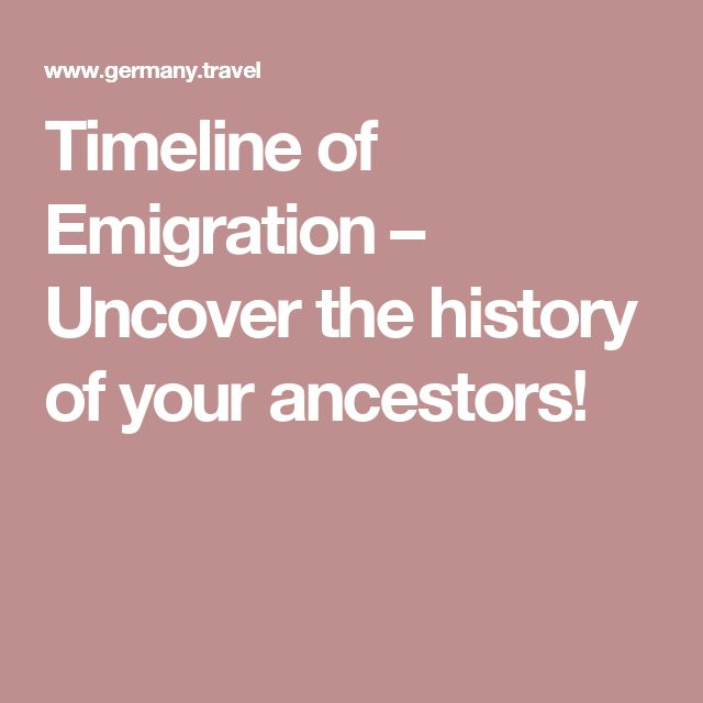 Timeline of Emigration – Uncover the history of your ancestors!