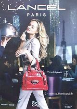 PUBLICITE SAC LANCEL PARIS TROCADERO L'ADJANI DE 2011 BAG FRENCH AD