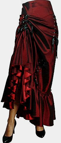 Gothic Victorian Long Skirt Bustles Ruffles  (except, less stuff on it. just good fabric and good sewing)