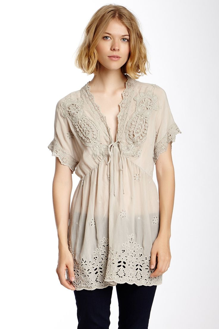 Johnny Was Eyelet Lace Tunic by Johnny Was on @nordstrom_rack