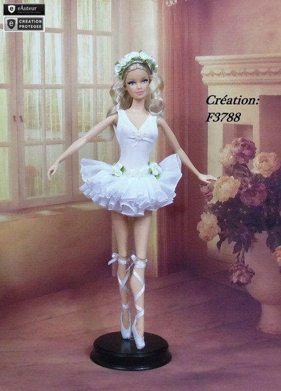 Tutu N5 held ballerina dancer for Barbie Silkstone f3788 by F3788