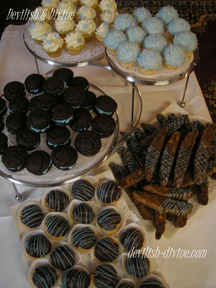 shower dessert buffet- Deep Chocolate whoopie pies, Triple Chocolate ...