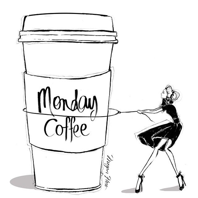 Megan Hess. It's been a while since I've drawn a GIANT COFFEE but today I have so many deadlines I'm going to need one!!!!
