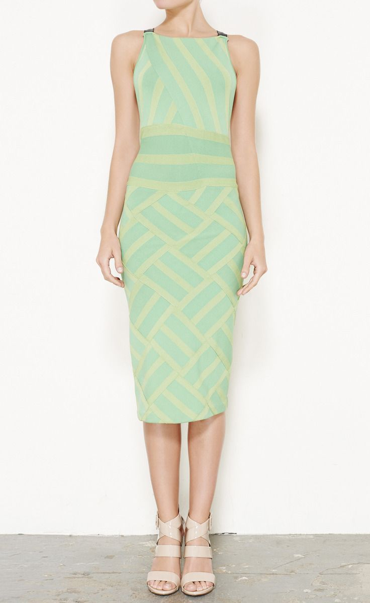Proenza Schouler Green Multicolored Dress