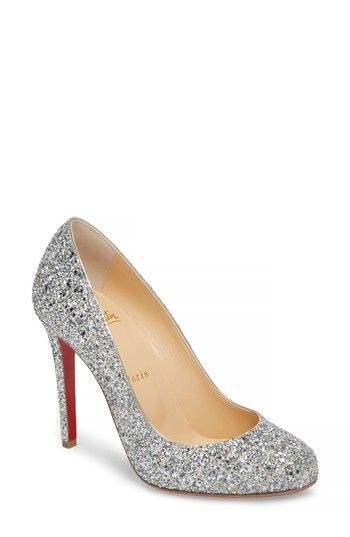 a9d057d3eb37 Free shipping and returns on Christian Louboutin Fifille Sparkle Pump  (Women) at Nordstrom.com. Sleek curves define a low-cut round-toe pump  awash in ...