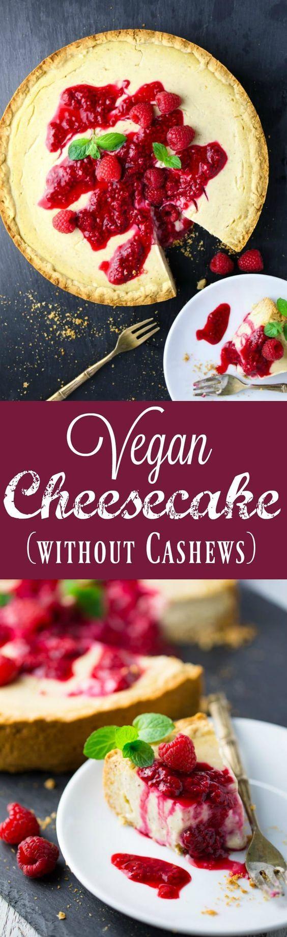 Vegan Cheesecake (without Cashews) - vanilla soy yogurt was used in this recipe.