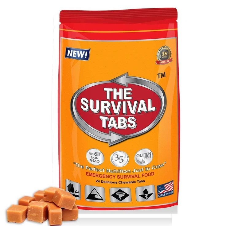 2 Day Food Supply of Butterscotch Survival Tabs 25 Year Shelf Life Emergency Kit #TheSurvivalTabs