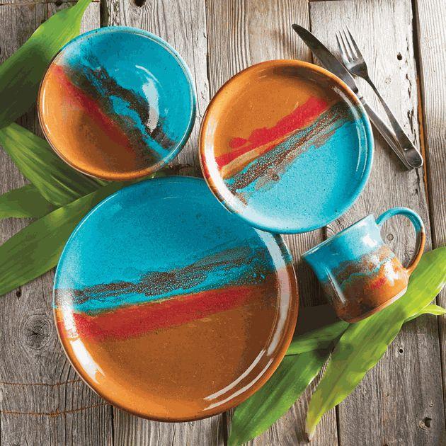 Canyon Sky Pottery Dinnerware (4 pcs)