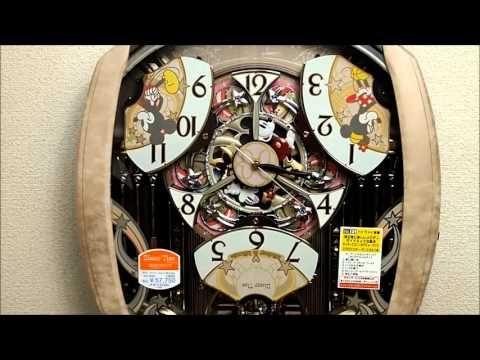 セイコー ディズニータイム 掛け時計 ミッキー&フレンズ 電波時計 FW563A Seiko Melodies In Motion Wall Clock - YouTube