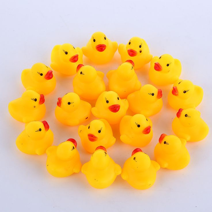 1 piece Shower Water Floating Squeaky Yellow Rubber Ducks Baby Toys Water Brinquedos For Bathroom duck