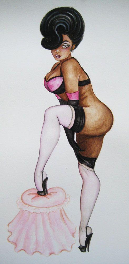 Xavier Garza pinups Perle Noire