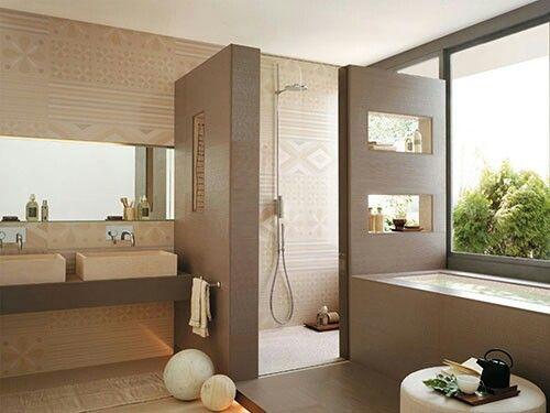 25 beste idee n over bruine badkamer op pinterest - Doucheruimte idee ...