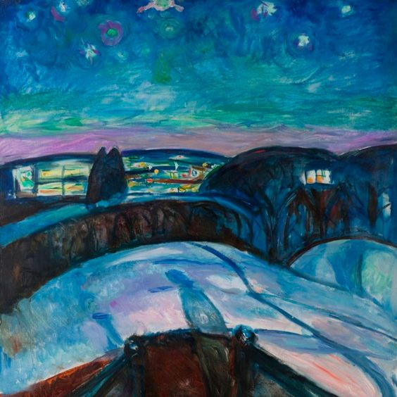 Edvard Munch – Starry Night (1923)