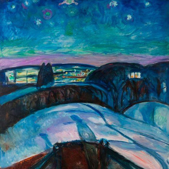Edvard Munch – Starry Night (1923)