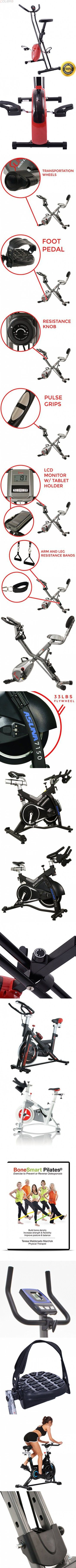 COLIBROX--Folding X-Shape Exercise Bike Cardio Workout Cycling Fitness Stationary. exercise bike cycling indoor. folding electric bike sport mountain bicycle. best stationary bike amazon.