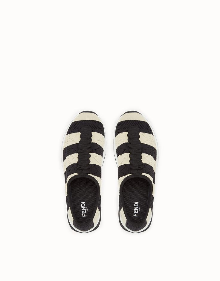 FENDI SNEAKERS - Two-tone fabric sneakers - view 4 zoom