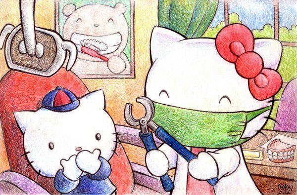 Hello Kitty nos visita en www.dentistamonterrey.mx