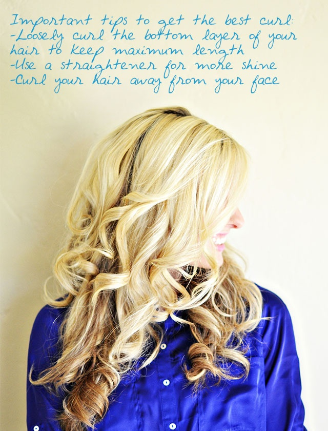 Flat Iron Curls... and easy tips I didn't know about how to look like they were done at a salon