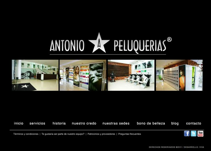 Sitio web ANTONIO PELUQUERIAS