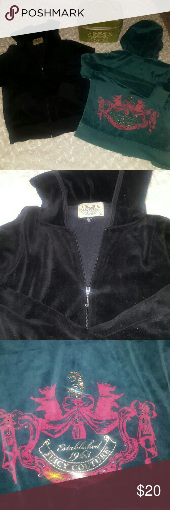 Lot.of 2.Juicy Couture Velour Jackets sz Medium Lot if 2.juicy Jackets. Juicy ia back.on trend! Snag this lot.of 2.sweat jackets, each in great condition size medium. Jackets & Coats