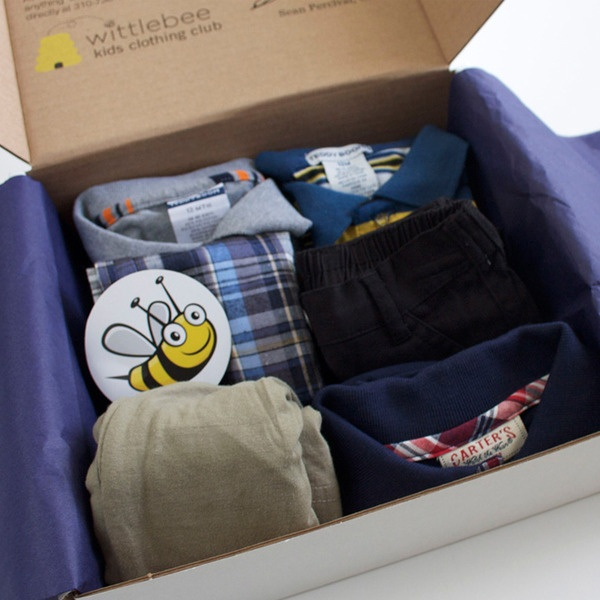 Every month Wittlebee delivers a box of cool new kids' clothes right