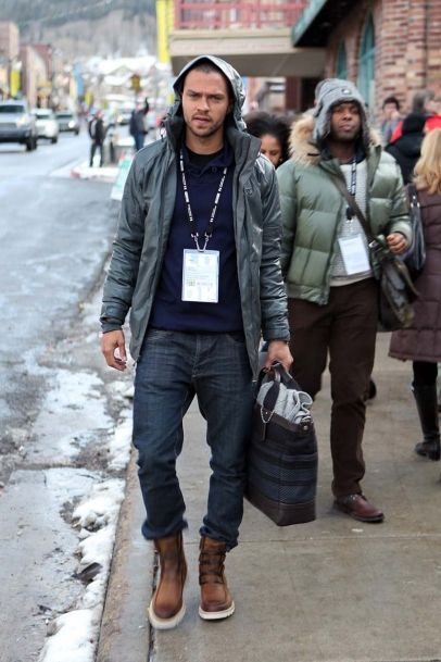 Jesse Williams of Grey's Anatomy spotted at the Sundance Film Festival. The beyond the break hunk was all smiles as he was spotted leaving the VEVO PowerStation & SOREL Suite featuring the Fresh Lounge presented by the Continuum Entertainment Group.