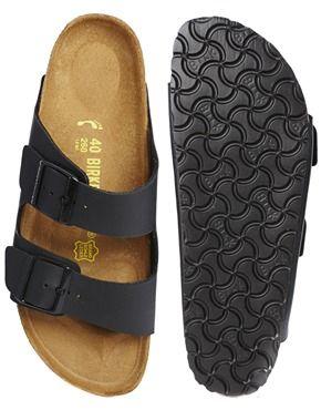 Image 3 ofBirkenstock Arizona Black Flat Sandals