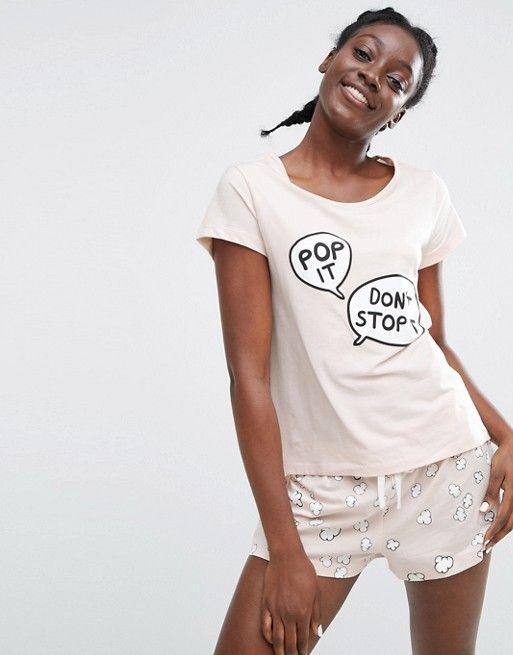 Monki Pop It Pyjama Short Set