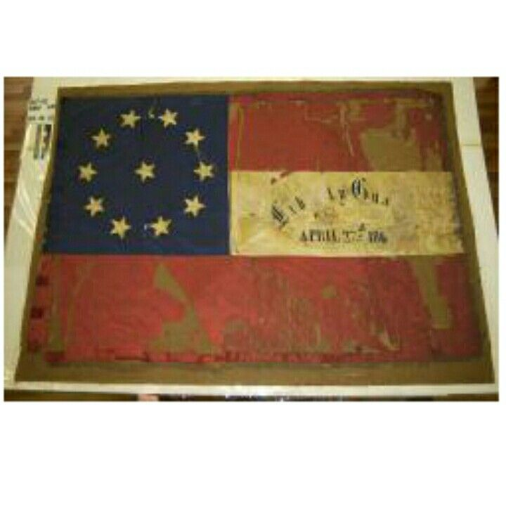 Flag of the Liberty Guards, 22nd Mississippi Confederate Infantry Regiment. Courtesy of the Mississippi Department of Archives and History.