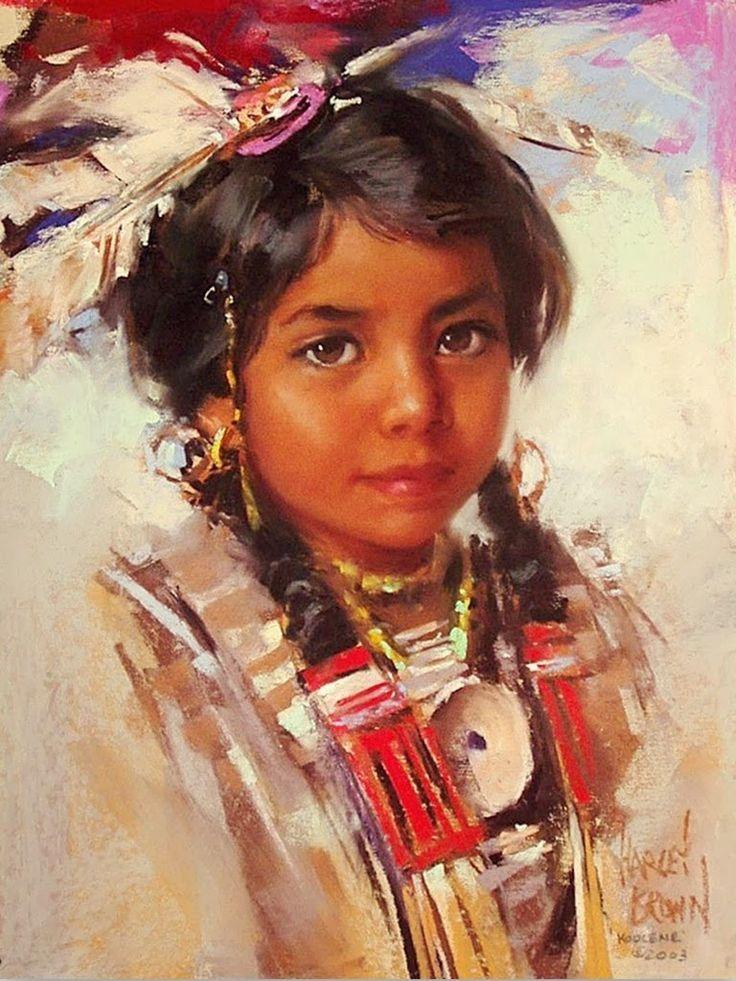 Pinturas de Indios al Óleo, Nativos Americanos. Cuadros