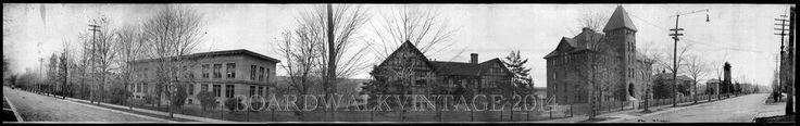 1910 Michigan Technological University Mining College Houghton Panoramic Photo