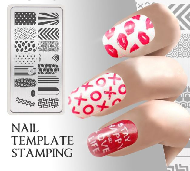 Stamping Stickers with Different Patterns //Price: $7.95 & FREE Shipping //     #aroma #hair #MakeUp