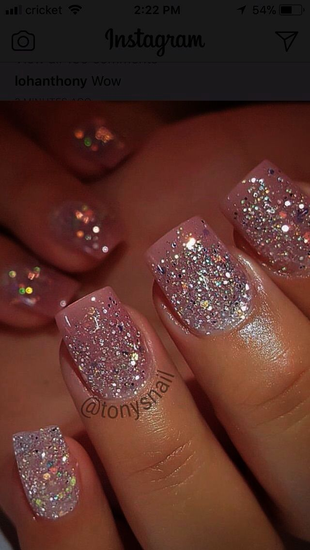 Amazon Com Online Shopping For Electronics Apparel Computers Books Dvds More Pink Glitter Nails Glitter Gel Nails Classy Nail Designs