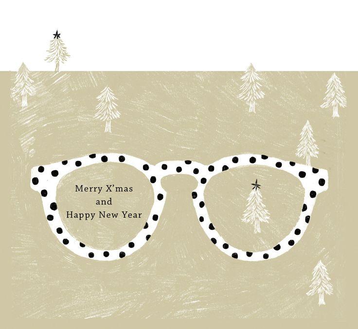 aiko fukawa ^~^ perfect illustration for (glasses store)invitation card!