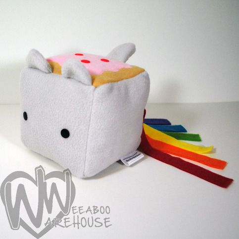 Nothing is cuter, more annoying or more lovable than Nyan Cat! Plush is made out of polyester fleece and filled with Poly-fill.    Some details like eye placement, applique placement and tail, ear or tentacle placement may vary due to the handmade nature.    Color of these adorable creatures may ...