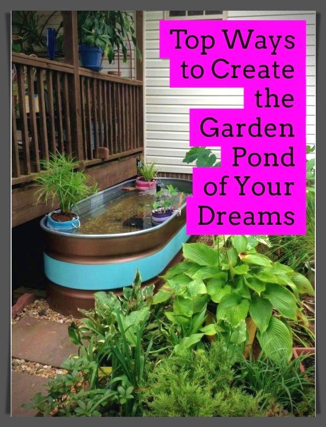 *Backyard Ponds, Cheap Pond Tips, DIY Ponds* | Pond ...