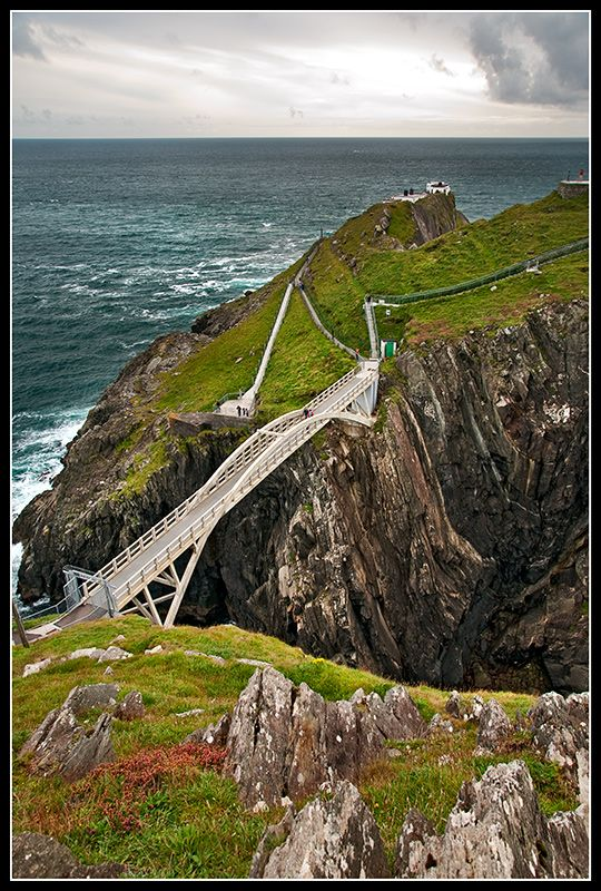 Cliffs and Bridge of Mizenhead Near Cork at Most Southerly Point of Ireland