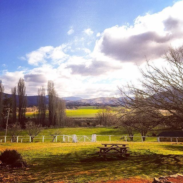 """""""Perfect spot for an afternoon cup of tea."""" We have to agree with Instagrammer @gabitha22 that the historic Lanyon Homestead, with its superb gardens, is a picturesque spot to relax in Canberra. It lies at the foot of the Brindabella Ranges and is one of Australia's premier historic properties. The precinct's centrepiece, the 1850's Homestead, has been beautifully restored and furnished. #visitcanberra"""
