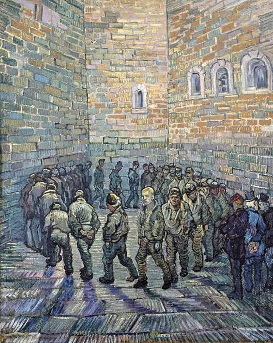 Vincent Van Gogh - Post Impressionism - Saint REMY - La ronde des prisonniers (d'après Gustave Doré) - 1990