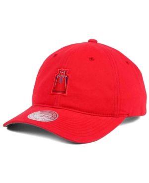 Mitchell & Ness Allen Iverson Philadelphia 76ers Deez Jersey Dad Cap  - Red Adjustable
