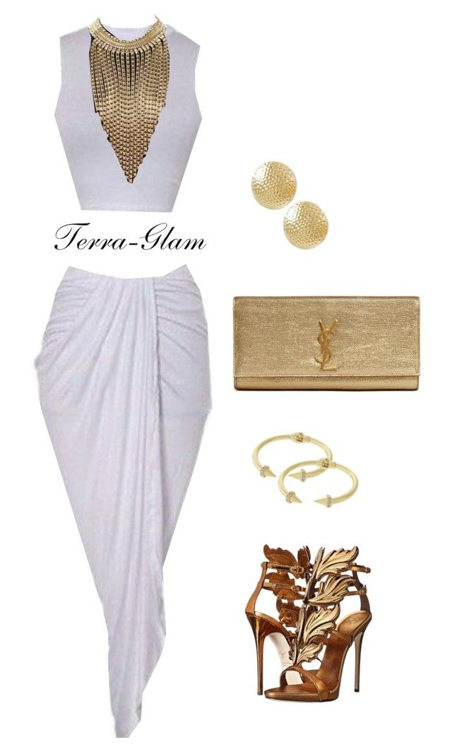 """""""Heavenly"""" by terra-glam ❤ liked on Polyvore featuring Giuseppe Zanotti and Yves Saint Laurent"""