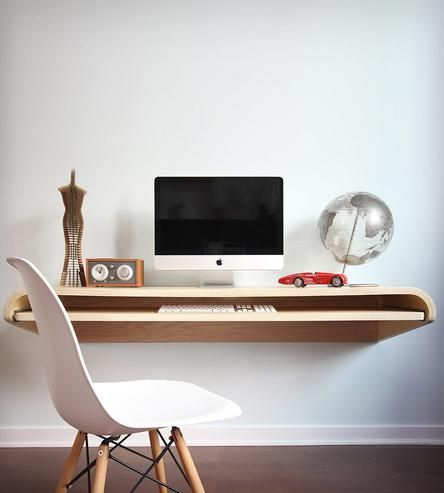 25 best ideas about floating wall desk on pinterest minimalist study furniture wall mounted - Orange floating desk ...