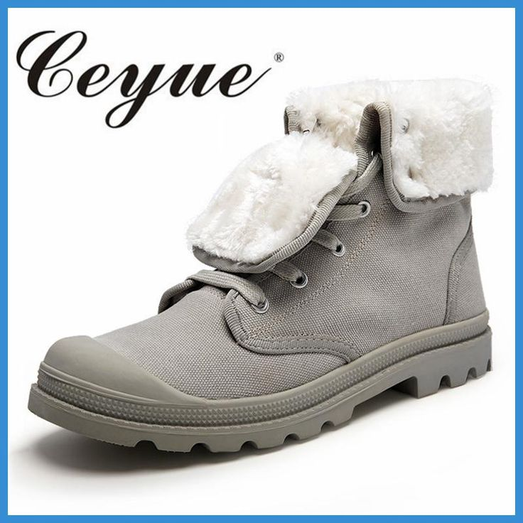 Ceyue Hot-Selling Winter Men Snow Boots New Canvas Short Plush High-Top Shoes Lovers Size 35-44 Ankle Invierno Botas De Nieve