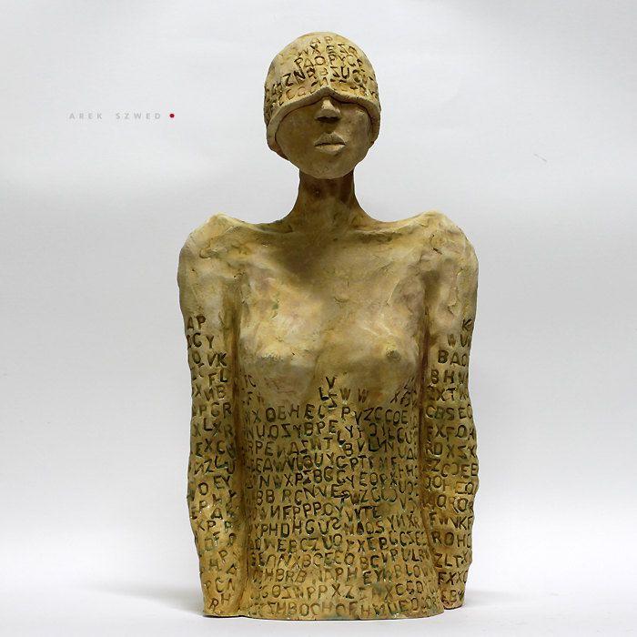 The Letters/Ceramic Sculptures/Unique Ceramic Figurine/Centaur / Unique home decor by arekszwed on Etsy