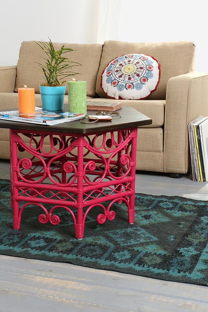 Magical Thinking Rattan Scroll Coffee Table