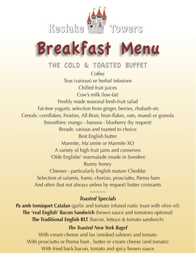 breakfast menu ideas - Google Search | Breakfast Menus ...
