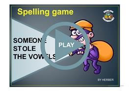 SOMEONE STOLE THE VOWELS PPT