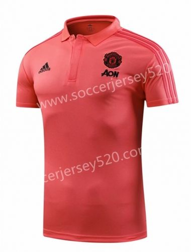 43a5fd0ce 2019 的 2018-19 Manchester United Pink Thailand Polo Shirt 主题 ...